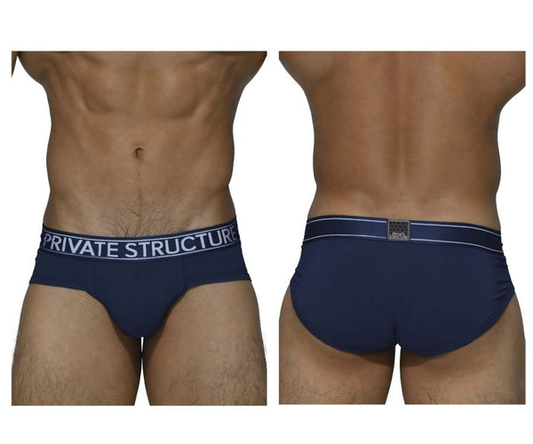 Private Structure PBUZ3748 Platinum Bamboo Briefs Color Midnight Navy