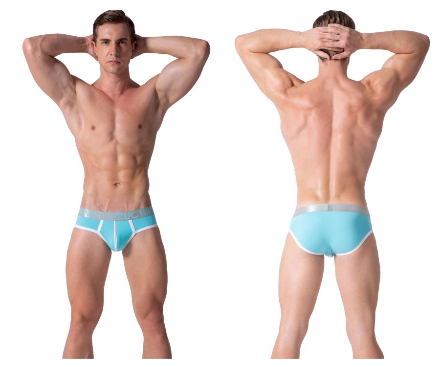 Private Structure SXUZ3683 Soho Spectrum X Briefs Color Aquablue