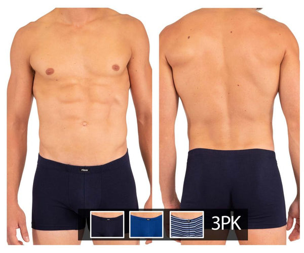Rico 250708 3PK Stripes Boxer Briefs Color Navy-Blue