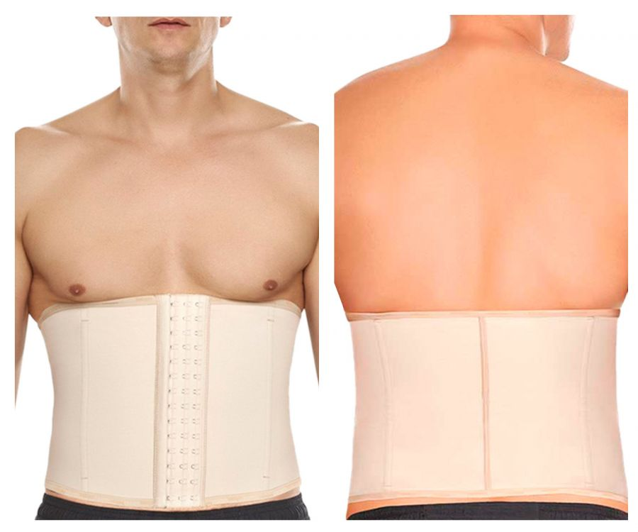 TrueShapers 1363 Highest Compression Workout Waisttraining Cincher Color Beige