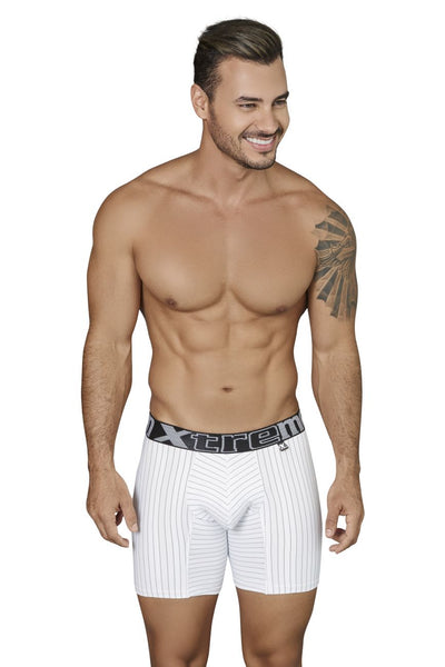 Xtremen 51419 Boxer Briefs Microfiber Stripes Color White