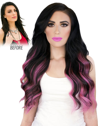 "BELLAMI Ombre 220g 22"" Clip In Hair Extensions"
