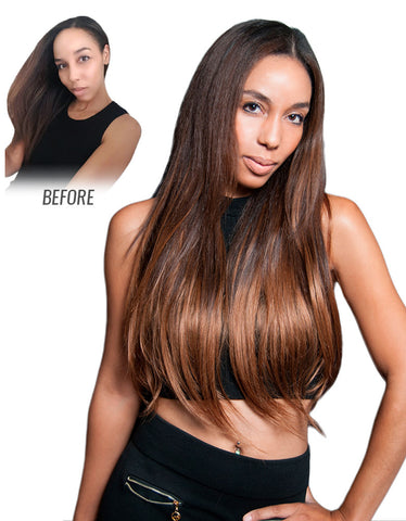 "Balayage by Guy Tang 160g 20"" Clip In Ombre Hair Extensions"