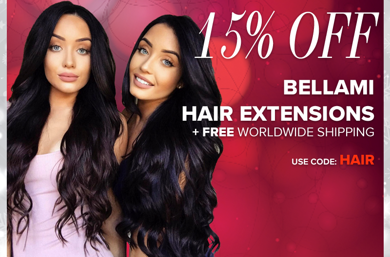 bellami christmas sale get 15% off hair extensions