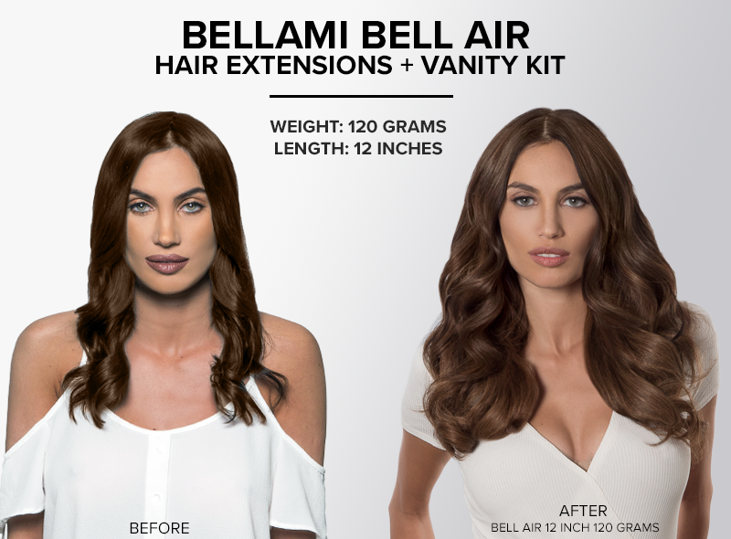 bellami bell air hair extensions KIT 12 inch 120 grams