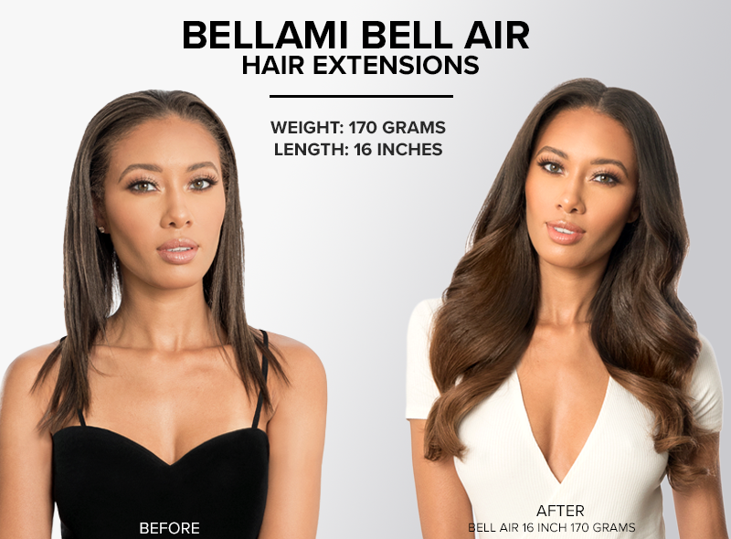 bellami bell air hair extensions 16 inch 170 grams