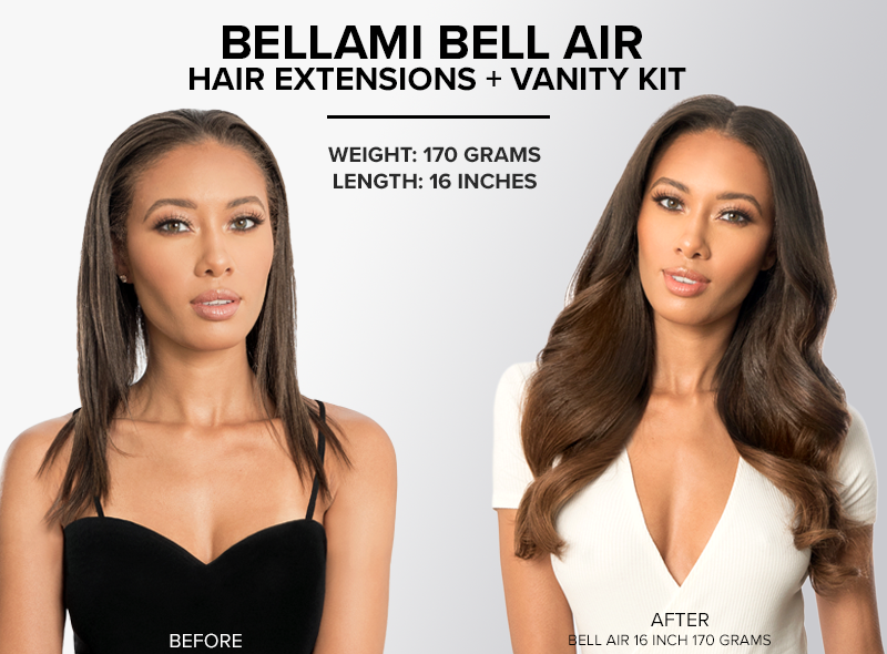 bellami bell air hair extensions KIT 16 inch 170 grams