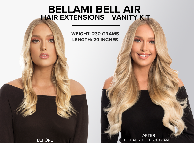 bellami bell air hair extensions KIT 20 inch 230 grams