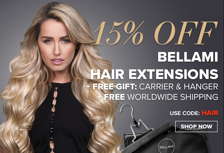 bellami black friday get 15% off hair extensions