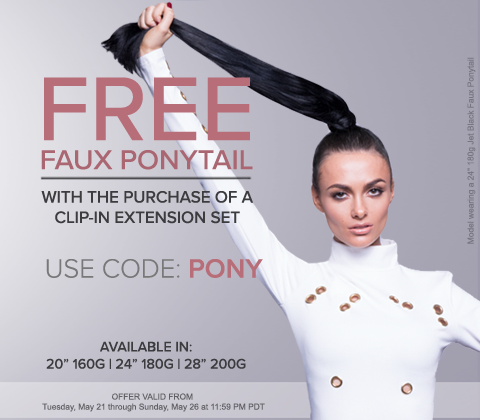 FREE Faux Ponytail with Hair Extension Set Purchase!