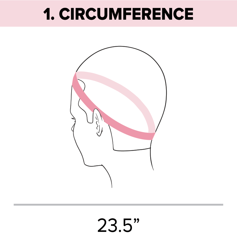 Standard head measurement chart circumference