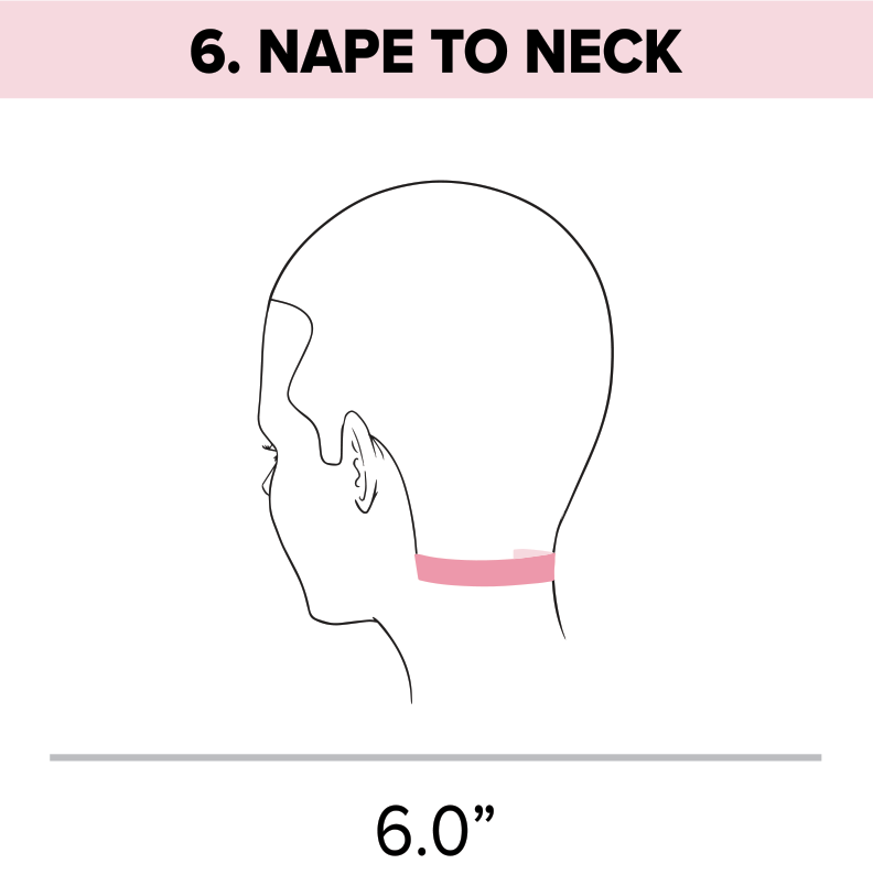 Standard head measurement chart nape to neck