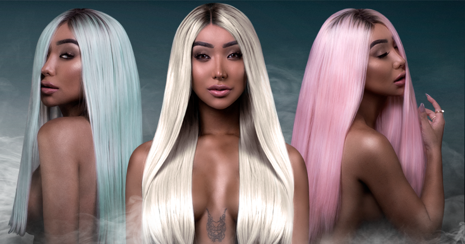 Nikita Dragun Synthetic Wigs Bellami Hair