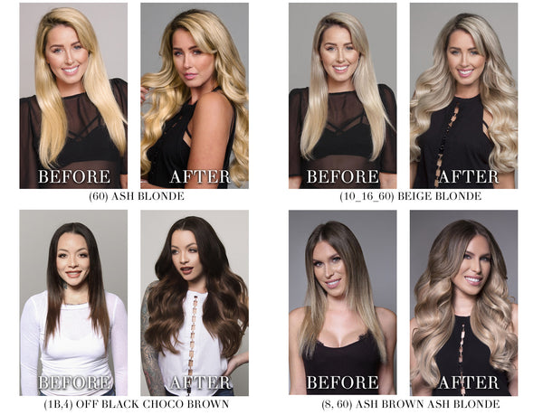 BELLAMI bell-air halo extensions before and after