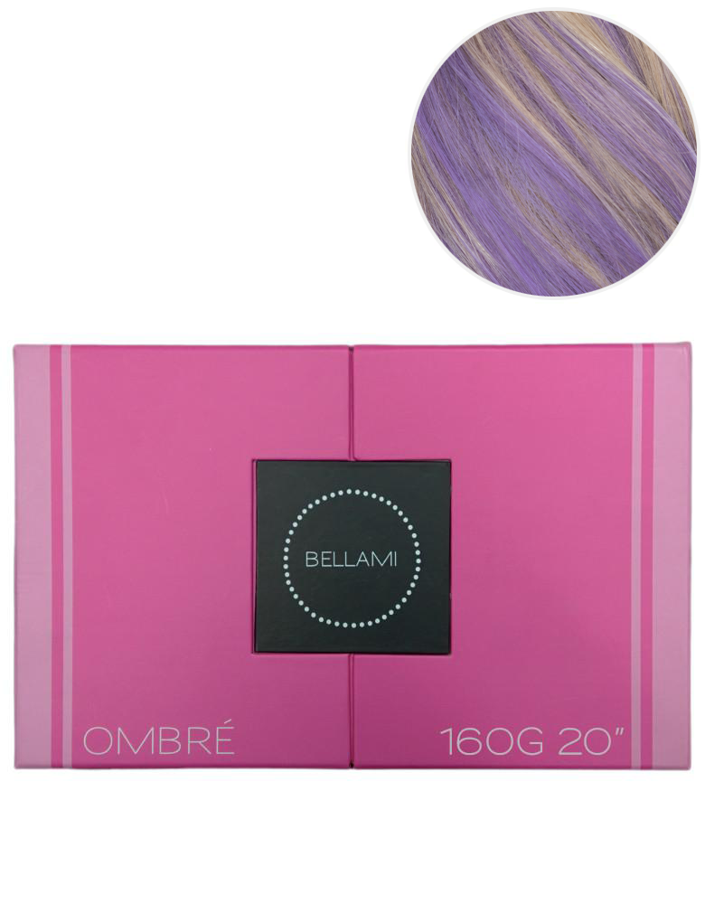 "BELLAMI 160g 20"" Ombre Dirty Blonde #18/Lavender Hair Extensions"