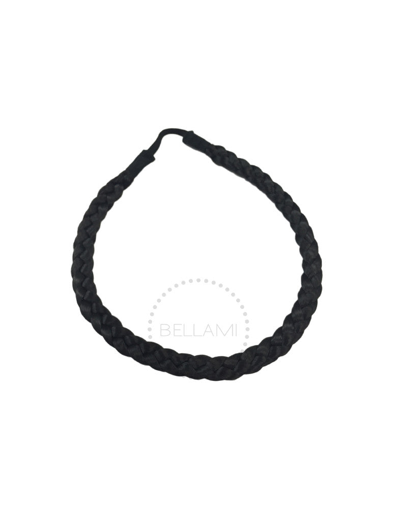 Braided Hairband Off Black (1B)