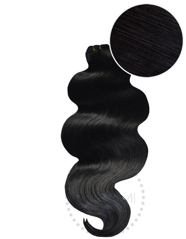 "BELLAMI Body Wave Bundles 160g 22"" Jet Black (1)"