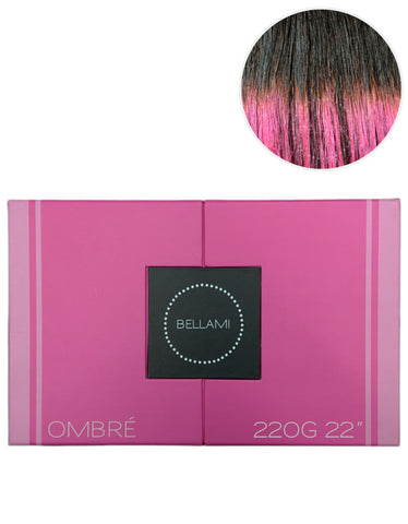 "BELLAMI 220g 22"" Ombre #1B/Pastel Pink"