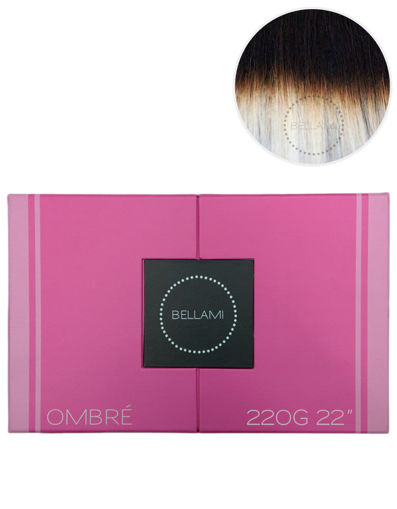 Bellami 220g 22 Ombre 1bplatinum Bellami Hair
