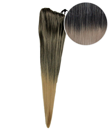 "Faux Clip Ponytail 180g 24"" Mochachino Brown Dirty Blonde Ombre (1C/18)"