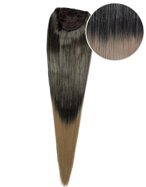 "Faux Wrap Ponytail 200g 28"" Mochachino Brown Dirty Blonde Ombre (1C/18)"