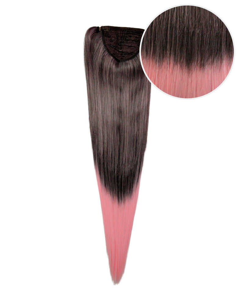 "Faux Wrap Ponytail 180g 24"" Licorice Cotton Candy (2/203C)"