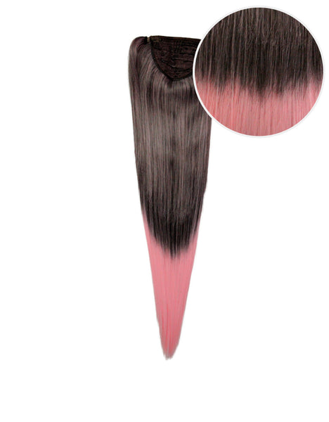 "Faux Wrap Ponytail 160g 20"" Licorice Cotton Candy (2/203C)"