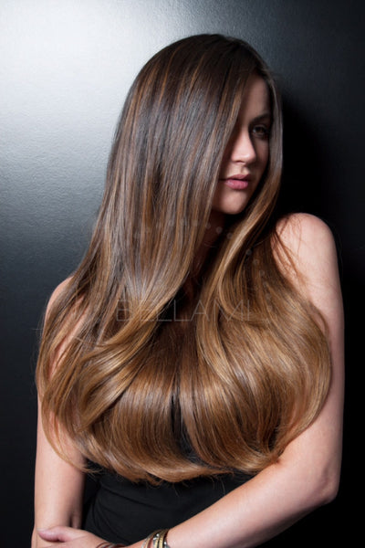 Balayage 220g 22 Quot Ombre Dark Brown Chestnut Brown Hair