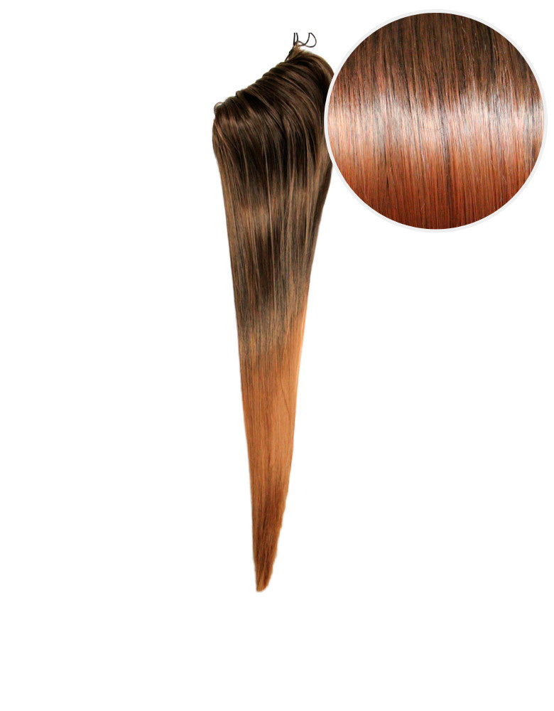 "Faux Clip Ponytail 160g 20"" Caramel Swirl (2/6)"