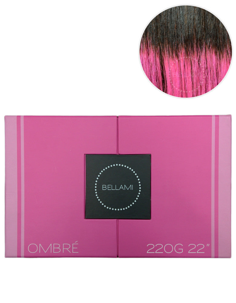 "BELLAMI 220g 22"" Ombre #2/Pastel Pink"