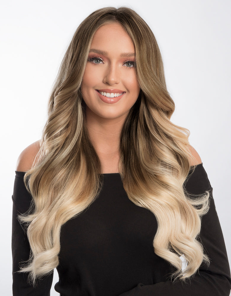 Bellami Bell Air 20 230g 860 Balayage Ash Blonde Hair Extensions
