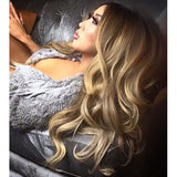 "Balayage 220g 22"" Hair Extensions #4 Chocolate Brown/ #18 Dirty Blonde"