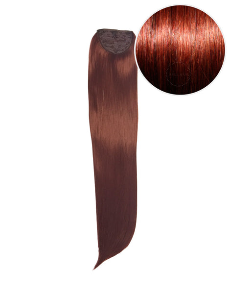 "Faux Wrap Ponytail 180g 24"" Vibrant Red (33)"