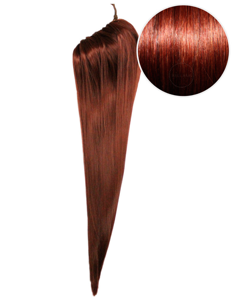 "Faux Clip Ponytail 200g 28"" Vibrant Red (33)"