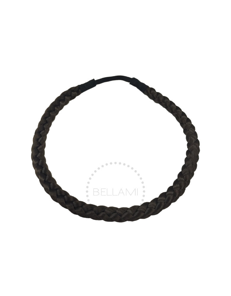 Braided Hairband Chocolate Brown (4)