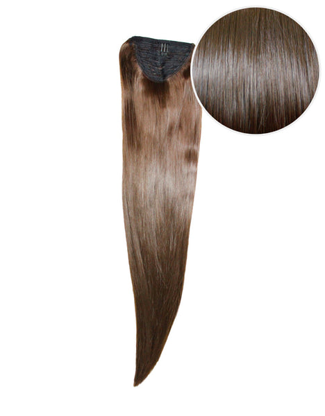 "Faux Wrap Ponytail 180g 24"" Chocolate Brown (4)"