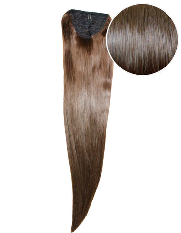 "Faux Wrap Ponytail 200g 28"" Chocolate Brown (4)"