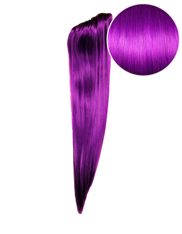 "Faux Clip Ponytail 180g 24"" Electric Purple (51P)"