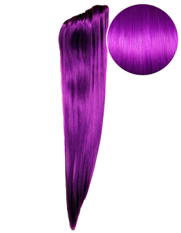 "Faux Clip Ponytail 200g 28"" Electric Purple (51P)"