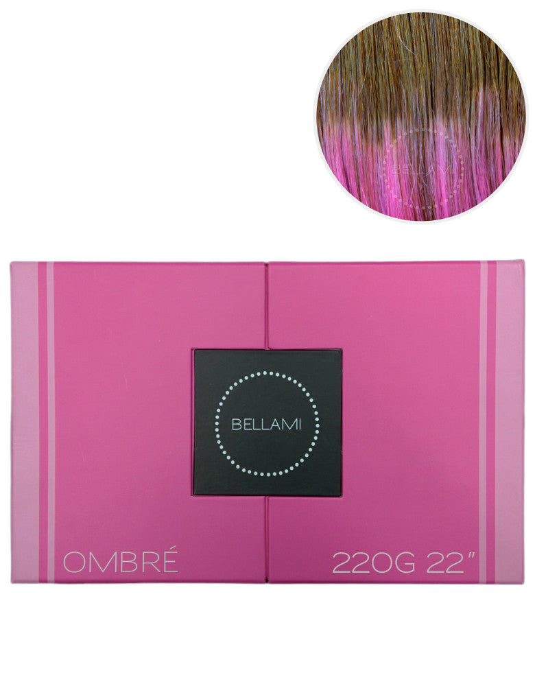 "BELLAMI 220g 22"" Ombre #6/Pastel Pink"