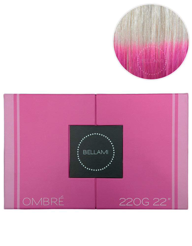 "BELLAMI 220g 22"" Ombre #60/Pastel Pink"