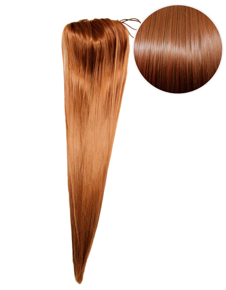 "Faux Clip Ponytail 200g 28"" Chestnut Brown (6)"