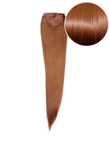 "Faux Wrap Ponytail 180g 24"" Chestnut Brown (6)"
