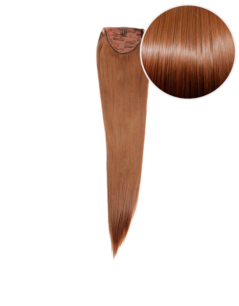 "Faux Wrap Ponytail 160g 20"" Chestnut Brown (6)"