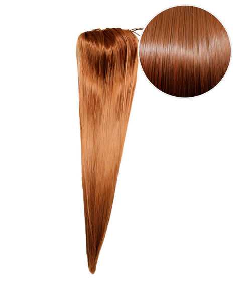 "Faux Clip Ponytail 180g 24"" Chestnut Brown (6)"