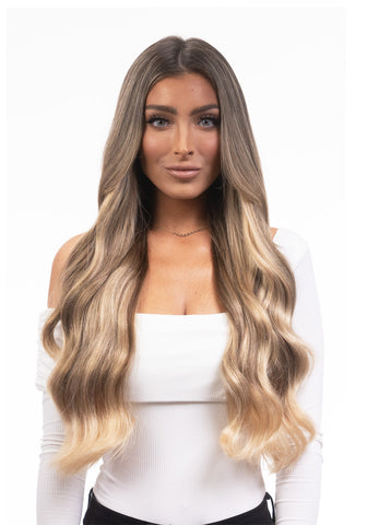 "BELLAMI Silk Seam 140g 18"" Warm Brown/Honey Blonde Ombre (17/24) Hair Extensions"