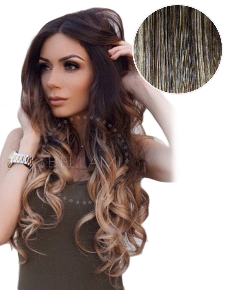 Balayage 160g 20 Ombre Mochachino Brown Dirty Blonde Hair Extensions BELLAMI