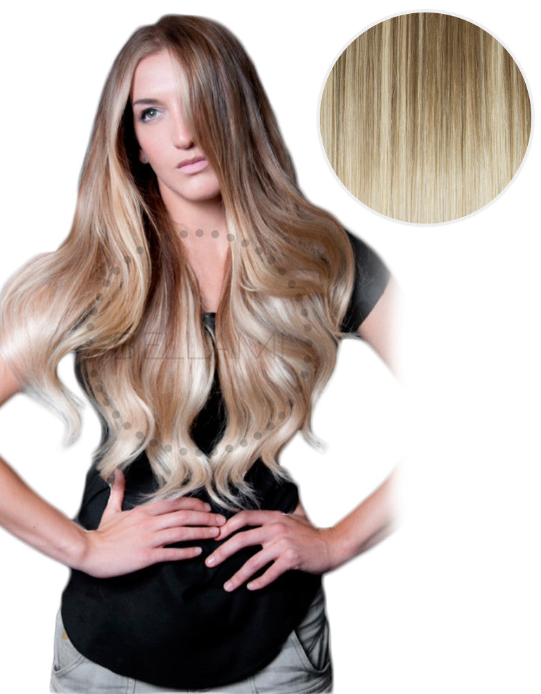 "Balayage 160g 20"" Hair Extensions #8 Ash Brown/ #60 Ash Blonde"