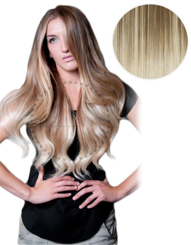 "Balayage 160g 20"" Ombre Hair Extensions #8 Ash Brown/ #60 Ash Blonde"