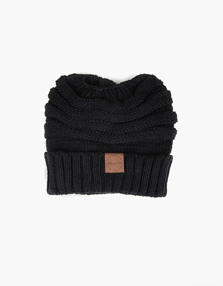 BELLAMI Ponytail Beanie - Black